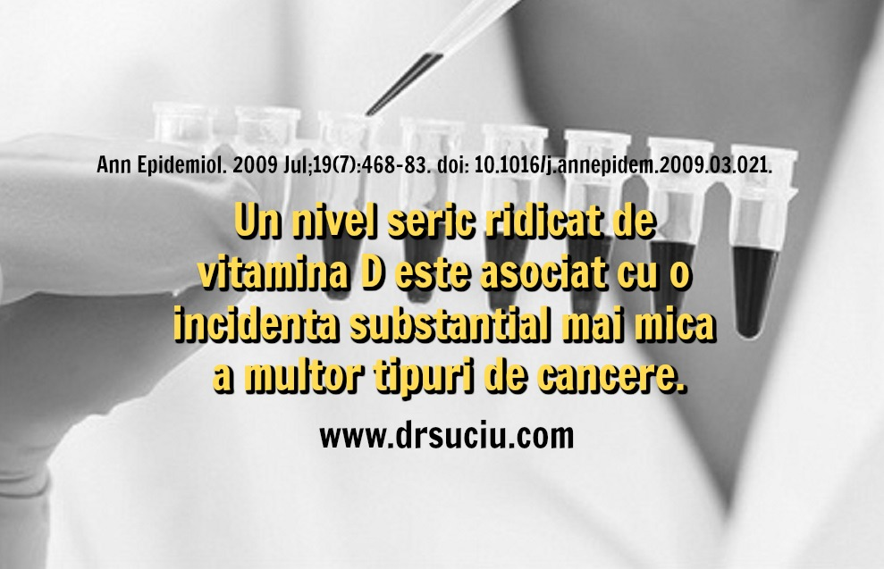 Photo Mai multa vitamina D, mai mic riscul de cancer - drsuciu
